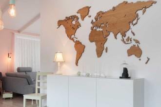 Mapa w domu. 10 pomysłów na ciekawe aranżacje
