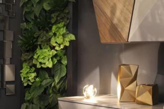 Ogród wertykalny – zielona ściana w mieszkaniu