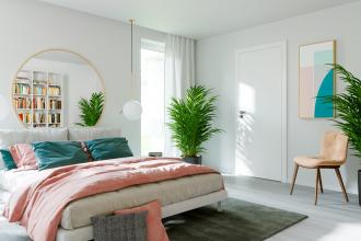 Aranżacja sypialni w stylu skandynawskim