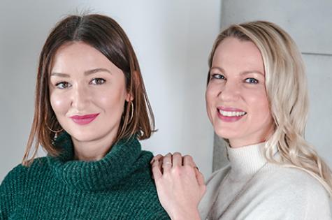 Beata Kwiatkowska i Joanna Real-Studzińska