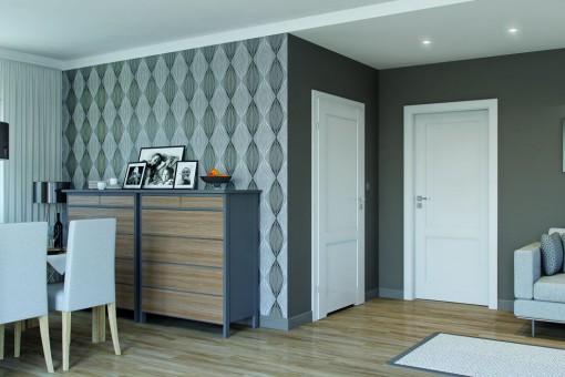 Dopasować kolor drzwi do podłogi czy postawić na kontrast?