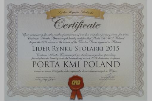 Porta w 2015 roku po raz kolejny Liderem Rynku Stolarki!