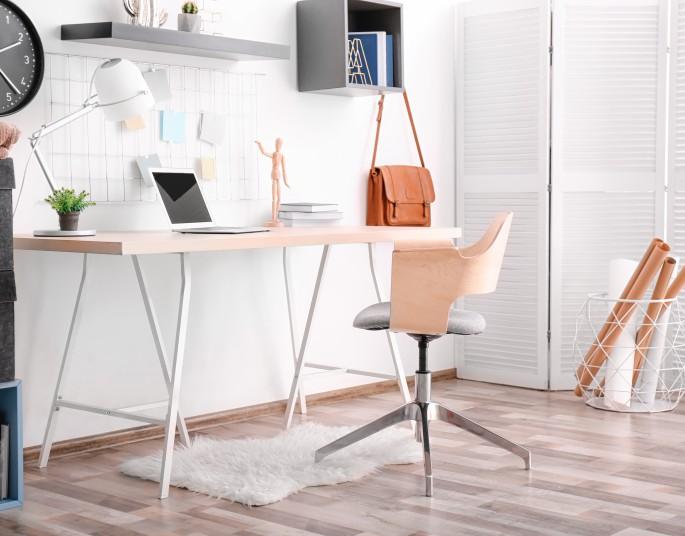 Biuro w domu - inspiracje wnętrzarskie