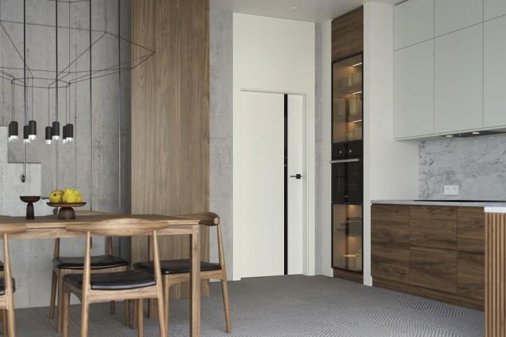 Drzwi przeszklone i pełne w mieszkaniu
