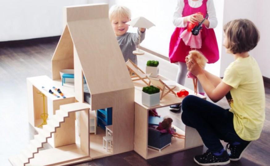 Drewniane, designerskie, piękne i drogie! Te domki to nie tylko zabawka, ale też ozdoba wnętrz