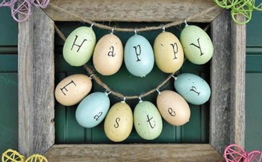 Wielkanocna rama z wyrazem
