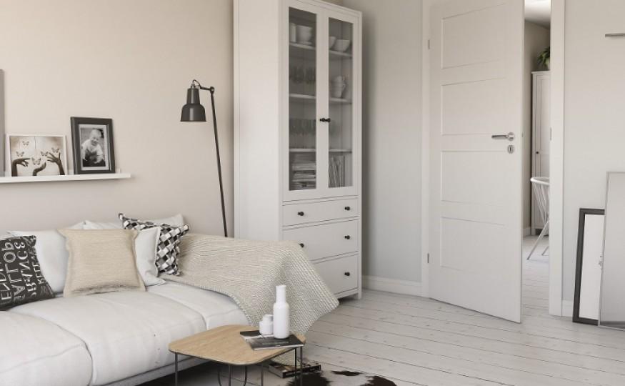 Biel nigdy się nie znudzi - aranżacje z białymi drzwiami