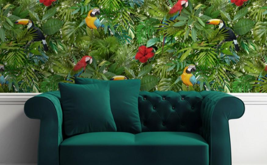 Egzotyczny pomysł na urządzanie pokoi: dżungla w mieszkaniu
