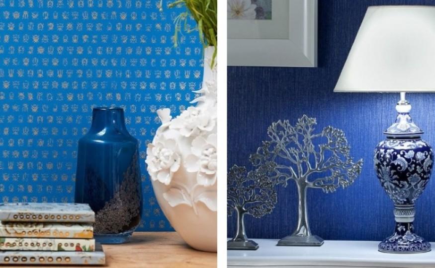 Dekoracje wnętrz w eleganckim błękicie