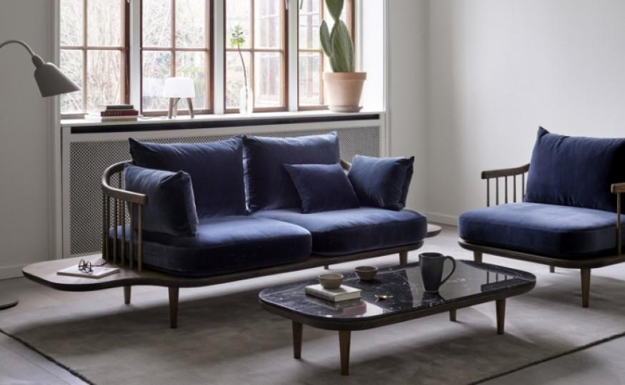 Wszelkie odcienie niebieskiego to również modne kolory salonu
