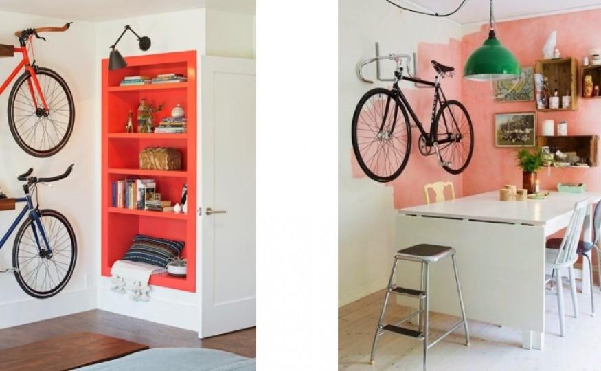 Wieszak na rower w mieszkaniu