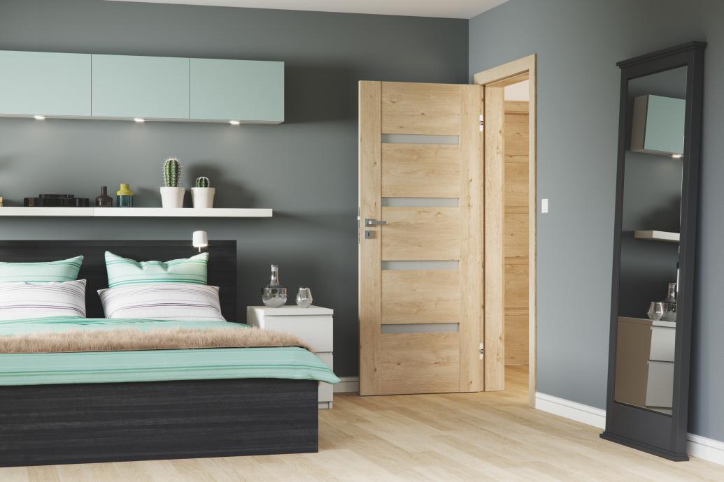 Drzwi wewnętrzne – aranżacje sypialni. Pełne czy przeszklone?