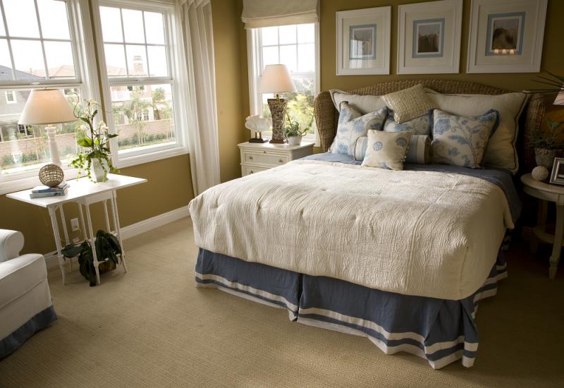 sypialnia w amerykańskim stylu